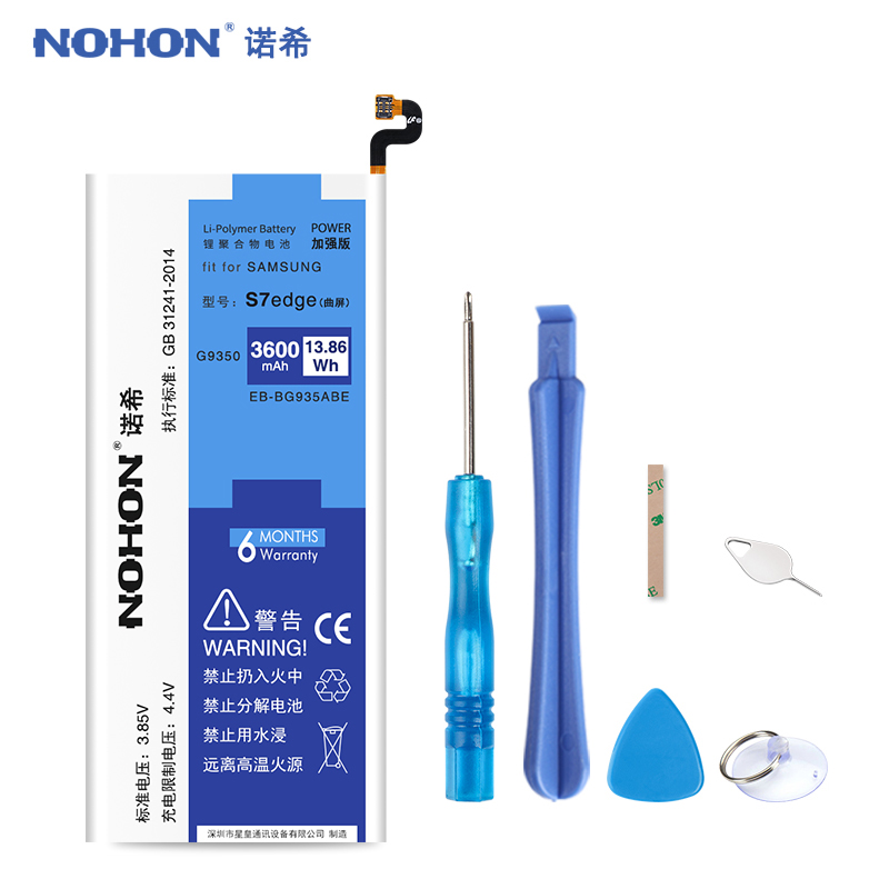 Original NOHON EB-BG935ABE Batterie Für Samsung Galaxy S7 rand G9350 G935 G935F G935FD G935W8 S7edge 3600 mah Ersatz Bateria