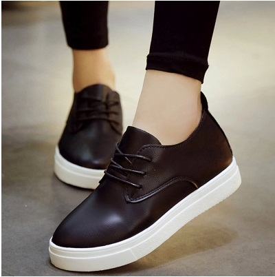 Fashion Womens Flat Boots Shoes Lace Up Womens Casual Shoes Pu Leather School  Shoes Comfort 2016 2cc3a805e3