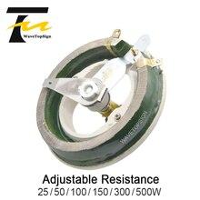 WaveTopSign High Power Disc Adjustable Porcelain Plate Load Resistance Sliding Potentiometer 1-5000OM 25W-500W