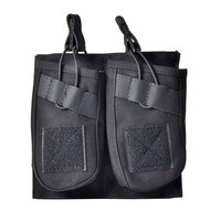 Tactifans Molle AK M4 Magazine Pouch Sinagle/Double/Triple Mag Pouch Webbing Molle System Quick Release Elastic Top Open Camo