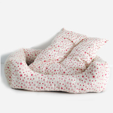 New Cute Dot Printed Pet Beds Soft Warm Hand Wash Cotton Dogs Sofa Little Cat Sleeping House Star Printing Mats High Quality