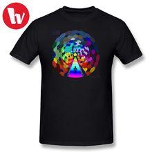 e5ff8914 Muse T-Shirt Men Print The Rainbow Road Music Tee Shirt Big Printed T Shirts