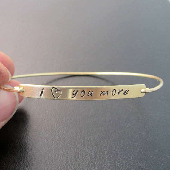 I Love You More Bracelet Gift For Her Birthday Girlfriend Or Wife Jewelry YLQ0573