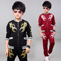 Fashion Boy's Sets 2 Pieces Kids Clothes Sports Suits Long sleeve top Long Pants