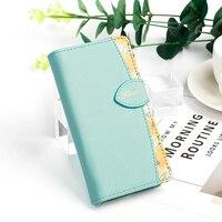 Оптовая продажа 50 шт. цветочный кожаный чехол кошелек для iPhone 8