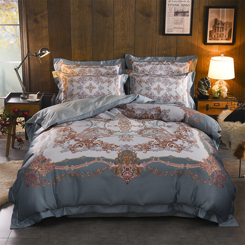Blue Purple Egyptian Cotton Bohemia Bedding Set Mandala