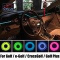 9 М EL Провода Для Volkswagen Golf 5 6 7/e-Golf/CrossGolf/Golf Plus/Романтическая Атмосфера Лампы/Украшения Холодный Свет линии