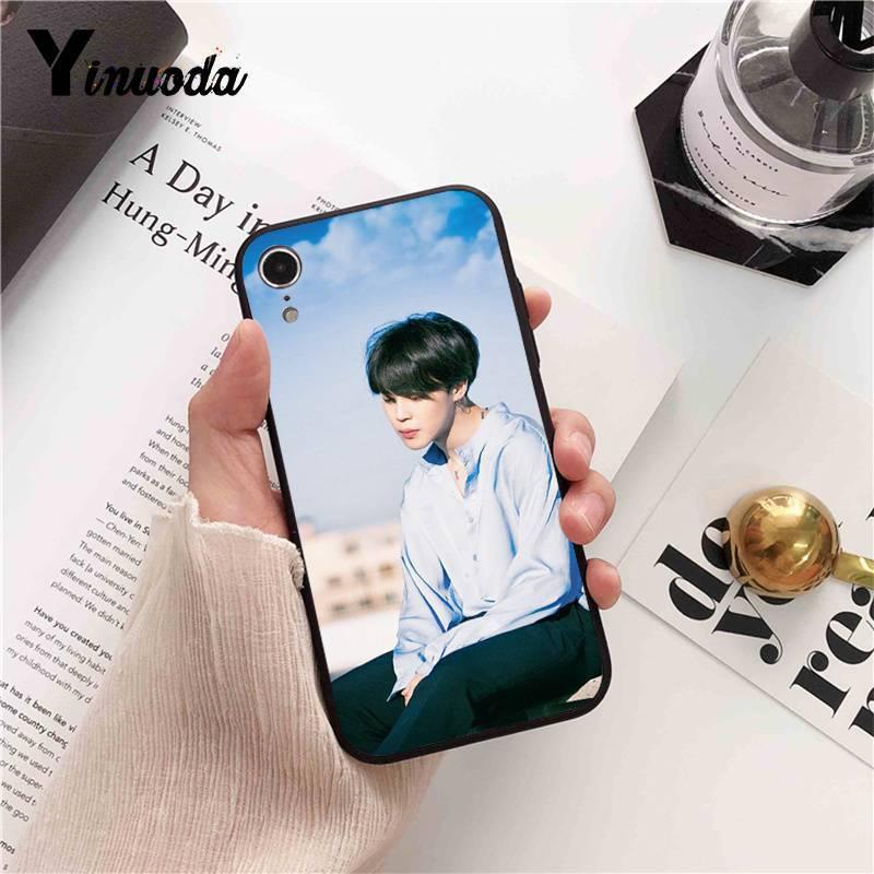 Yinuoda BTS Bangtan V Jimin DIY Painted Phone Case for iPhone X XS MAX  6 6s 7 7plus 8 8Plus 5 5S SE XR