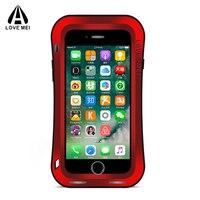 For IPhone 7 Case Gorilla Glass Aluminum Powerful Life Waterproof Shockproof Dirtproof Metal Case For Apple