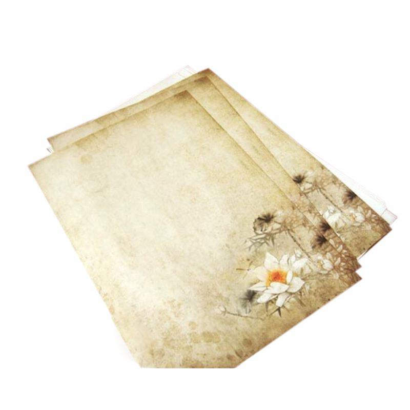 16x Party Vintage Lotus Letter Paper Stationery letter paper set School Office
