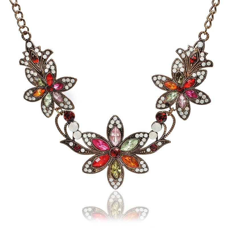 cff77249154f 3 colores colgante de mujer colgante flor Suéteres collar joyeria joyería  Accesorios regalos cadena