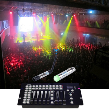 DMX512 Wireless Lighting Receiver Transmitter 2 4G Communication distance  300M RGB Light Controller