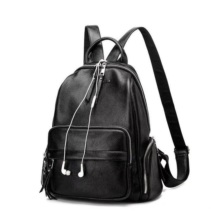 0844490dd718 Новые модные женские рюкзак высокое качество Молодежные кожаные рюкзаки для  девочек-подростков Женский школьная сумка