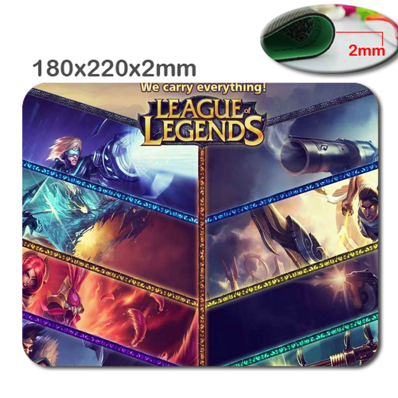 New Arrival Top Selling Print League of legends High Quality Durable Fashion Computer Gaming Mouse Pad Gamer Play Mats