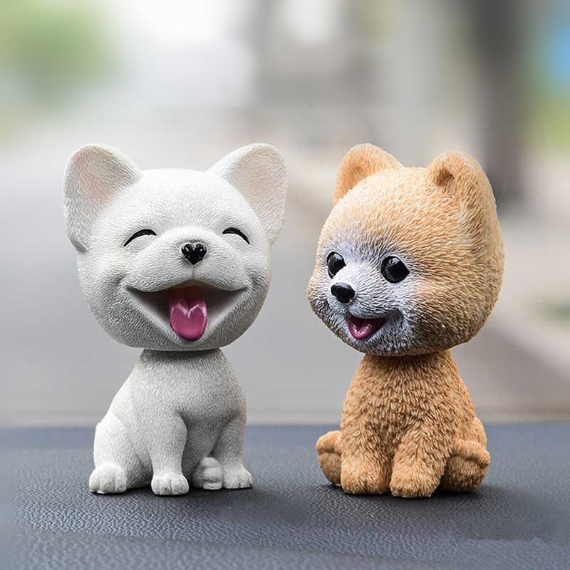 Car Ornaments Cute Shake Head Dog Doll Automobile Dashboard Decoration Puppy Toys Cute Auto Interior Decor Accessories Gifts