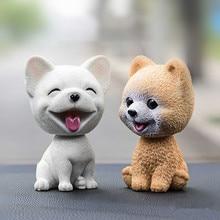 Car Ornaments Cute Shake Head Dog Doll Automobile Dashboard Decoration Puppy Toy