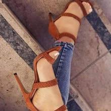 cb4d083e329d Boussac Weaving Women Sandals High Heels Sexy One Strap Summer Sandals Shoes  Vintage Gladiator Sandals Women SWC0015