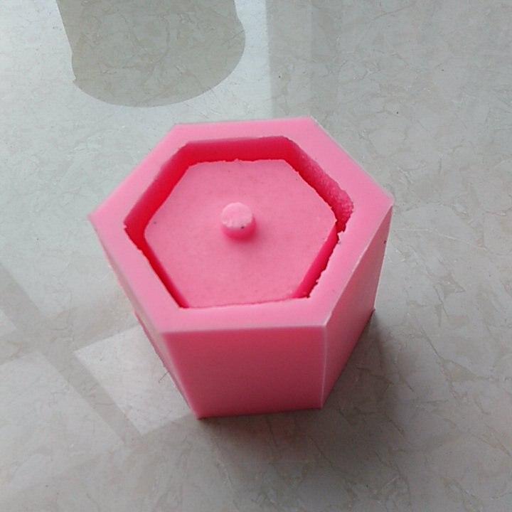 Hexagon Concrete flower pot making silicone mold for Garden decorating  Desktop Plants Landscape pot mould