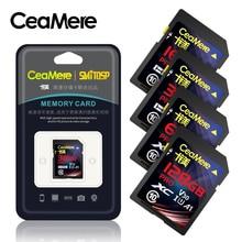 Ceamere cartão sd 256g 128gb 64gb 32gb 16gb, xc hc cartão de memória flash classe 10 UHS I micro cartão sd 128gb para câmera envio direto