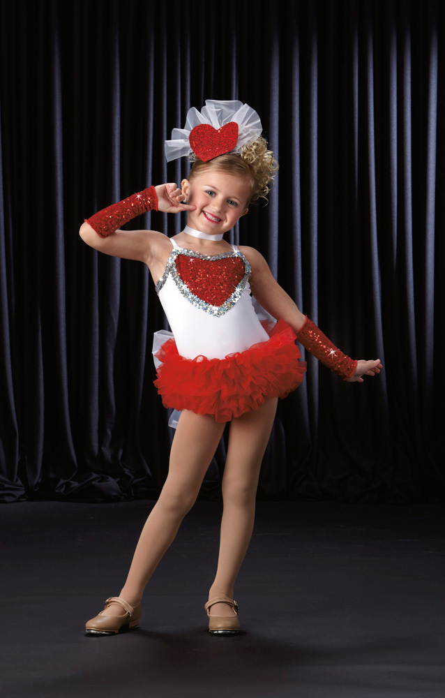 New girl Ballet competition dress 1~15T Luxury kid Modern dance costume Sexy child party wear with glitter Heart Mix size