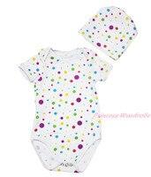 Plaine bébé arc points bébés filles combinaison barboteuse une pièce NB-12M MAJPA0051