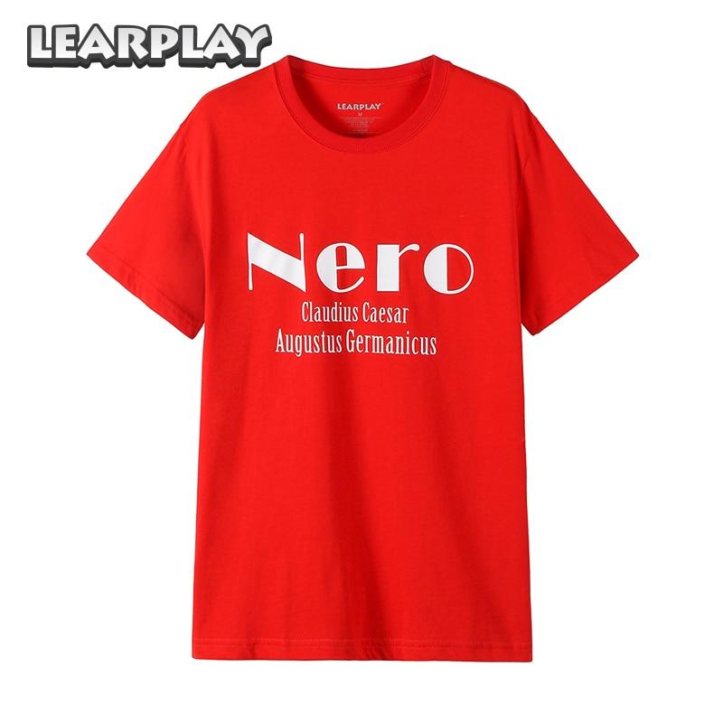 Fate/Extra Nero Logo T-shirt Anime Claudius Caesar Augustus Germanicu Short Sleeve Tees Summer Red Tops Basic Shirts Men Women