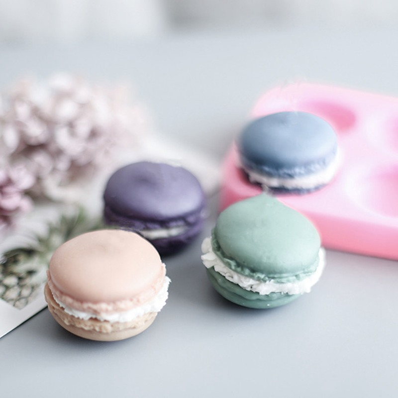 Macaroon Hamburger Soap Mold Fondant Cake Decorating Tools Clay Resin Molds Gumpaste Chocolate Candy Moulds For Soap Making