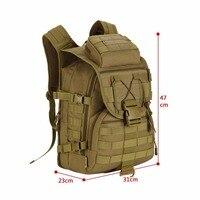 Ourdoor Men Waterproof Molle Trekking Bag Military 3P Tactics Backpack Knapsack Women Assault Cordura Bag Packsack