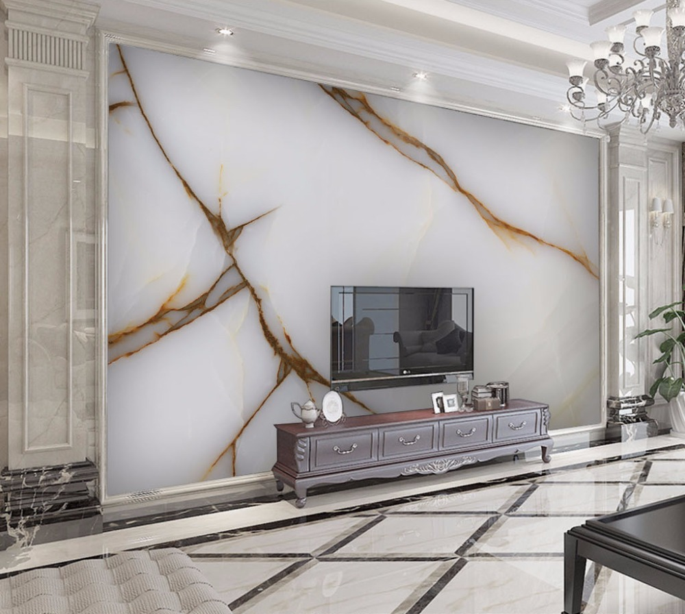 Luxurious Print Gold Texture Marble Wallpaper Murals 3d wallpapers for Living room bedroom Marble Wallpaper 3d Wallpaper sticker