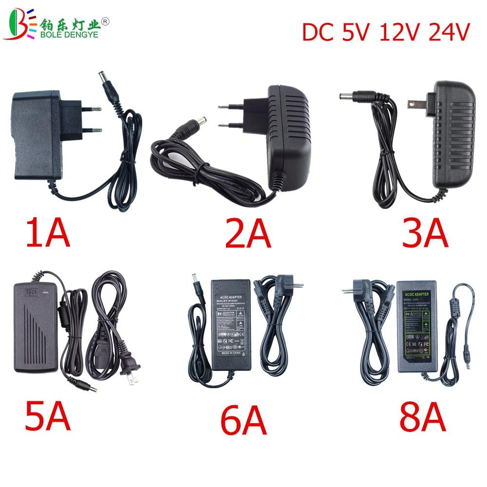Светодиодный Мощность адаптер 5,5*2,1 ~ 2,5 мм Женский Разъем EU AC 110V 220V DC/DC 12V 24V 5V освещение Трансформатор для светодиодный ленты CCTV cnc Router