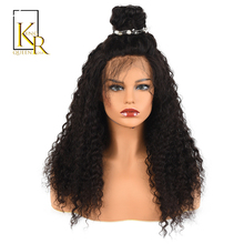 250% Density Curly Wig Long Lace Front Human Hair Wigs For Black Women Remy Brazilian With Adjustable Bangs King Rosa Queen