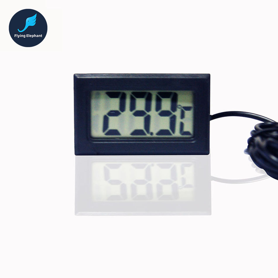 Digital water Thermometer Temperature Meter water cooling with temperature sensing needle for PC water cooling dc12v 24v digital meter 20 100 degrees celsius thermometer dual display temperature meter for car water air indoor outdoor etc
