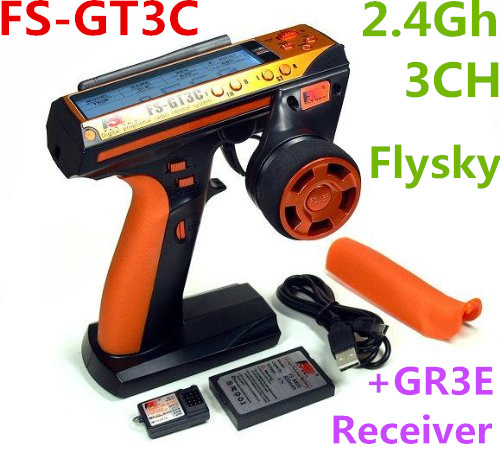 Flysky fs-gt3c 2.4 GHz 3ch afhds Frecuencia de salto automático digital con gr3e receptor para Coches de control remoto barco