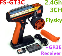 Original Flysky FS-GT3C 2.4Ghz 3CH AFHDS Automatic Frequency Hopping Digital System with GR3E Receiver For RC Cars Boat