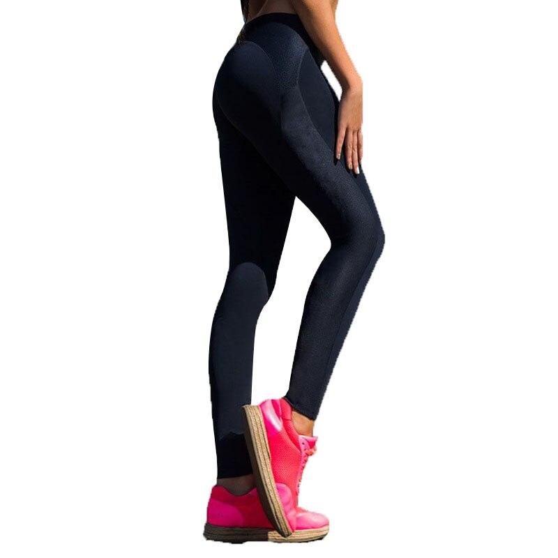 INITIALDREAM Women Mesh Pattern Print Leggings Fitness Sexy Women Sporting Workout Leggins Jogging Elastic Slim Pants