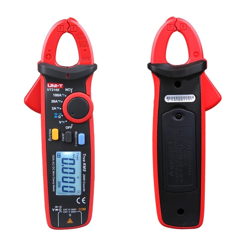UNI-T UT210E True RMS Digital Multimeter AC/DC Current Mini Clamp Meters UT210E handheld Clamp Multimeters