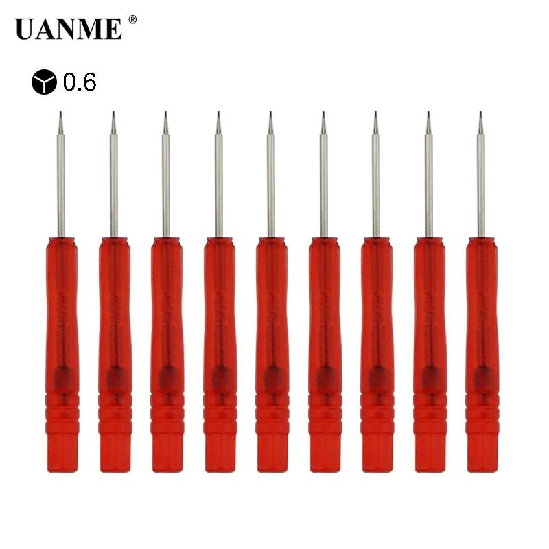 Набор отверток UANME Y-Type 0,6 для iPhone 7 8 X, 10 шт./лот, инструменты для ремонта сотовых телефонов