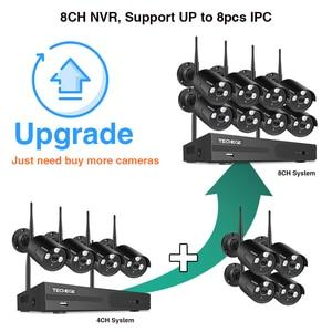 Image 3 - Techege 8CH Wireless CCTV System 1080P 2MP NVR Waterproof outdoor CCTV Camera IP Camera Security System Video Surveillance Kit