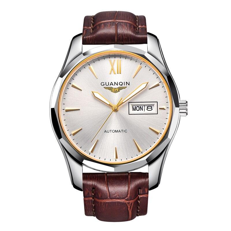 Original Guanqin 2018 business watches Top Brand Luxury Auto Mechanical Watch Men Dual date Week Luminous fashion Men Wristwatch guanqin gq70005 men auto mechanical watch