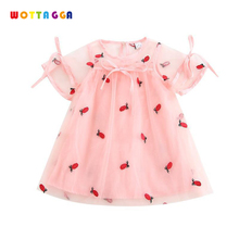 WOTTAGGA 2019 Baby Girl Floral Lace Princess Tutu Dress Wedding Pineapple Embroidered Gown Girls Clothes For Kids Party