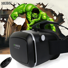 2016 Gafas 3D VR Shinecon Cartón Gafas de Realidad Virtual 3D Películas Casco para 4.0-6.0 pulgadas Smartphone + Bluetooth controlador