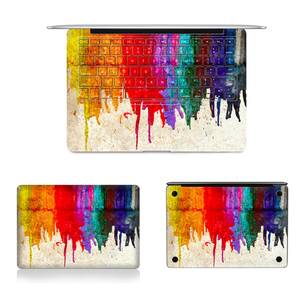 2017 Hot SaleLaptop Full Vinyl Decal Top Bottom Keyboard Side Sticker Painting Skins For Macbook Air Retina Pro 11121315 colorful laptop sticker decal skins for macbook 11 13 15 17 inch sticker for mac book rainbow logo free shipping new arrival