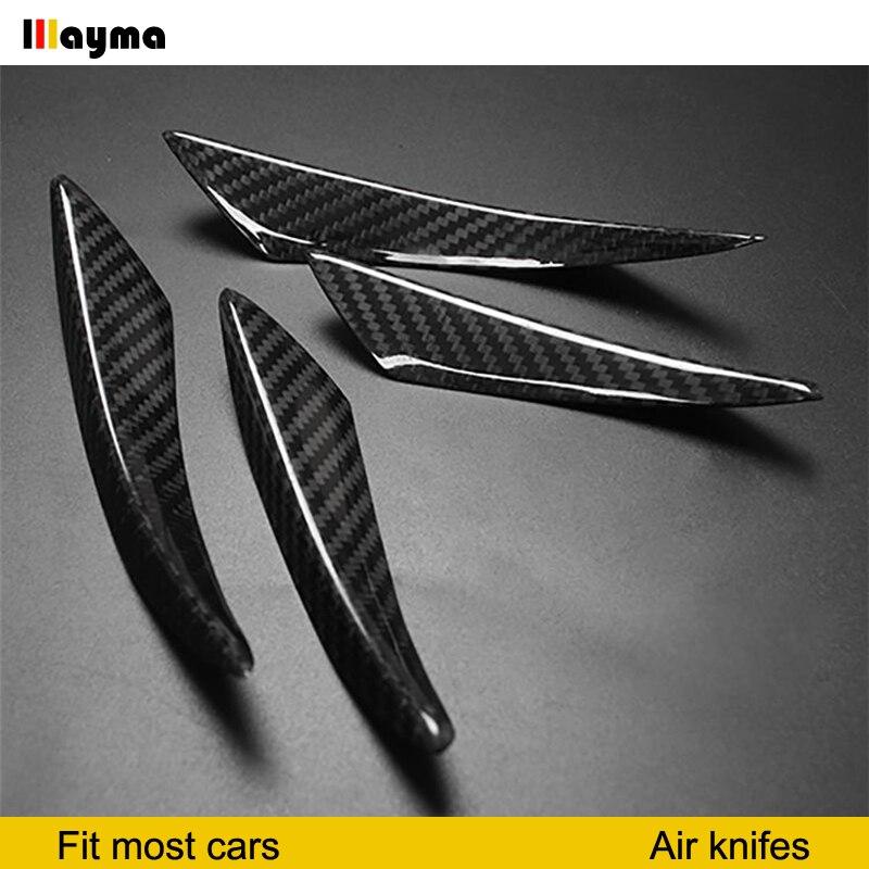 Tabliers DE couteau à Air DE voiture en Fiber DE carbone pour Audi A3 8 v Mustang GT 2 series F22 F23 F87 A classe A200 A250 couteaux à Air 4 pièces