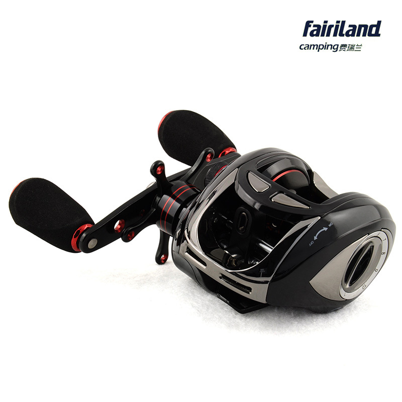 Baitcaster reels 10BB low profile baitcasting fishing reel KOREAN BANDO original water drop wheel gear ratio 5.1:1 free shipping by ems fishing reels baitcasting reel daiwa megaforce ths gear ratio 7 3 1 six ball bearings right