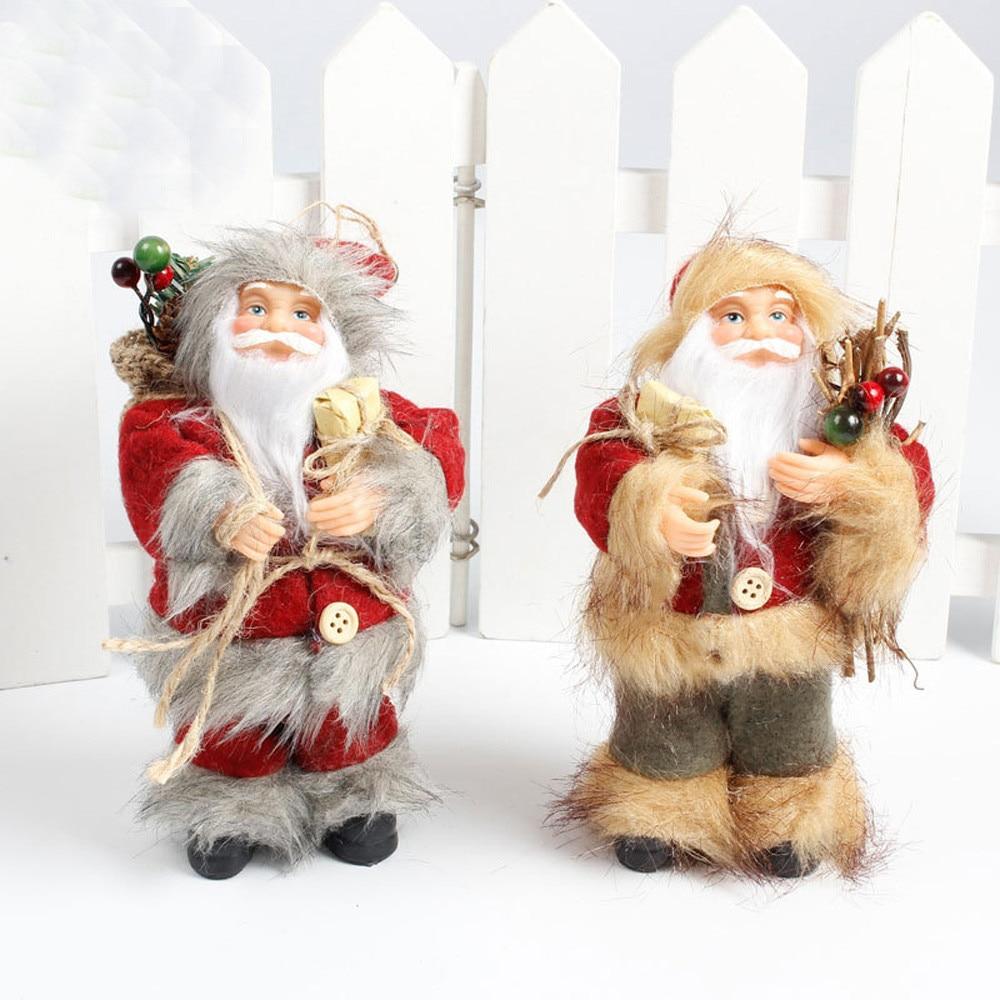 1PC Christmas Tree Decoration PVC + Cloth Santa Ornament Festival Gift Christmas Home Holiday Dolls Toys Natale Decorazioni@GH