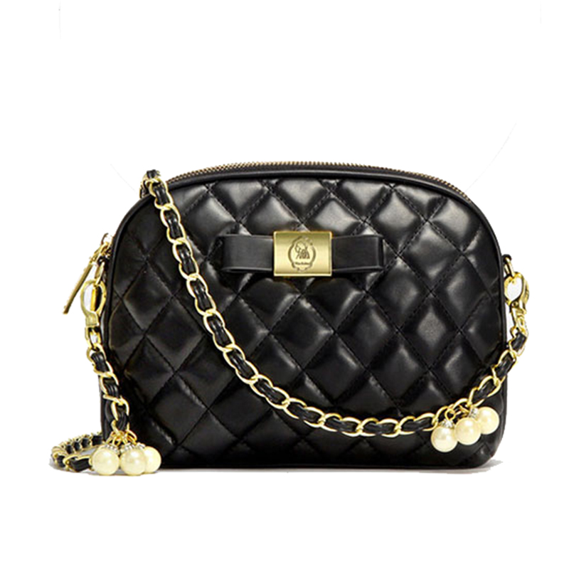 ФОТО Famous Designer Handbag Womens PU Leather Lingge Messenger Bag Ladies Small Crossbody Bags for Women Pearl Messenger BS605