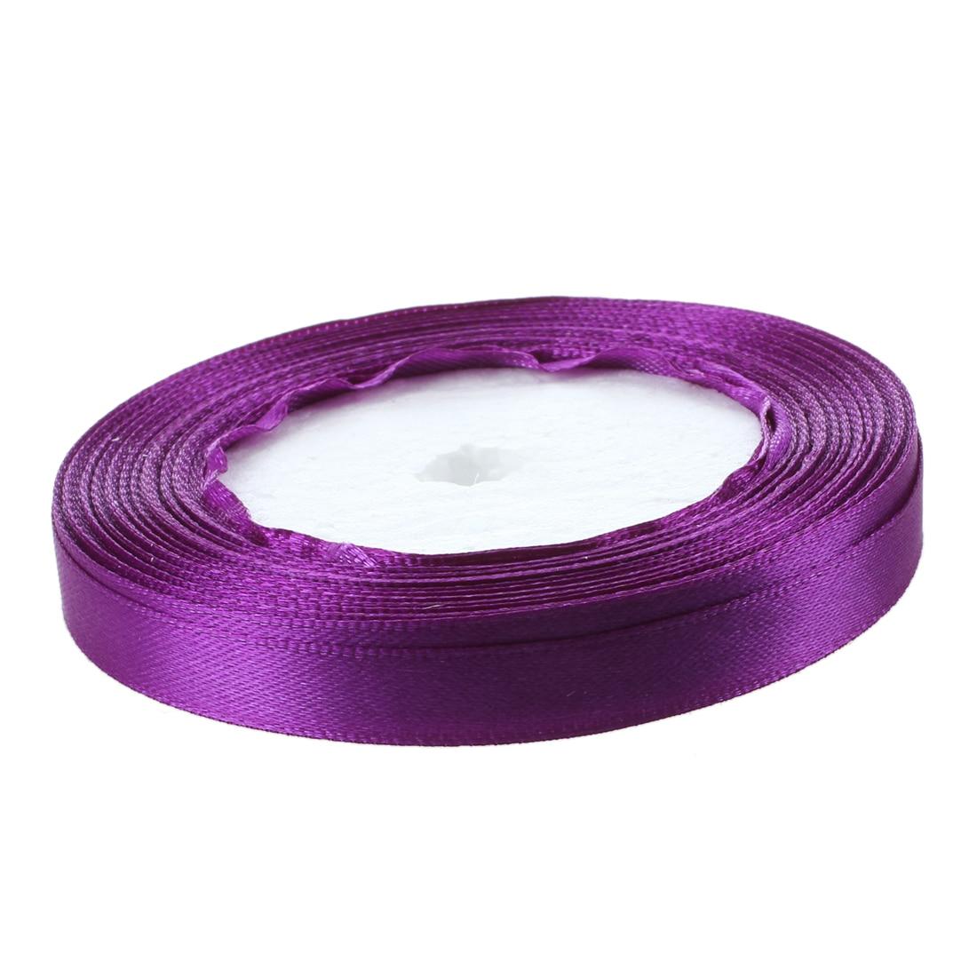 3/8 «10 мм 25 ярдов атласная лента, рулон Свадебная вечеринка Craft DIY украшения фиолетовый