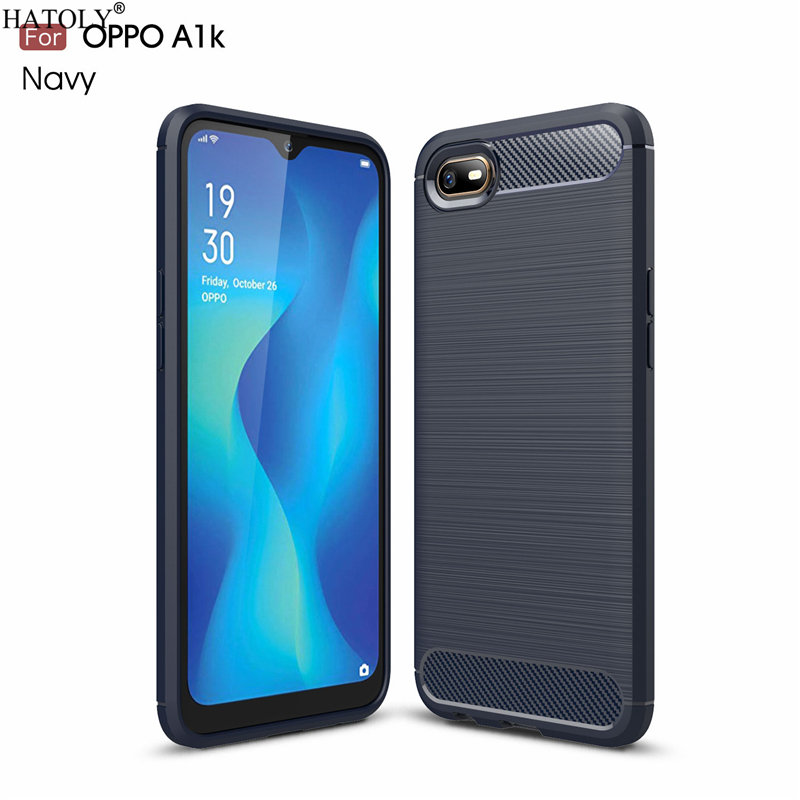 HATOLY For Capas Oppo A1K Case OPPO A1k Anti-knock Soft TPU Brushed Rugger Silicone Phone Cases For Oppo A1K CPH1923