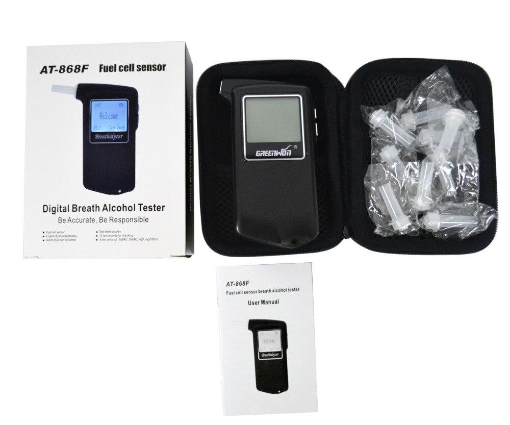 2 pièces/GREENWON portable Police alcootest analyseur détecteur numérique LCD pile à combustible capteur souffle alcool testeur livraison gratuite - 2