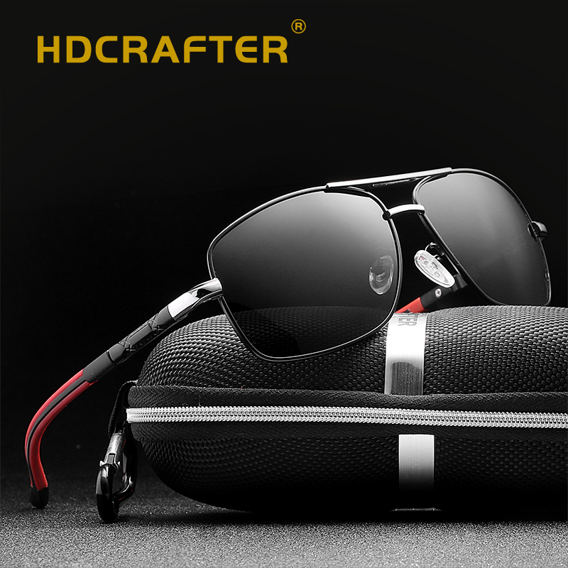 819c4c973 Click here to Buy Now!! الاستقطاب النظارات الشمسية الرجال القيادة العلامة  التجارية تصميم النظارات الشمسية مربع إطار نظارات ...